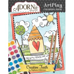 "AdornIt ArtPlay Coloring Book ""Documented Faith Creative Faith"""