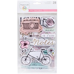 Inspire Edition Chipboard Stickers Project Life by Becky Higgins