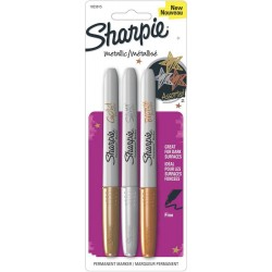 Sharpie Metallic Fine Point Permanent Markers 2 Pkg