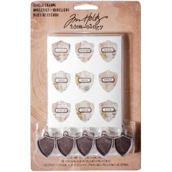 Antique Shield Charms Idea-Ology by Tim Holtz