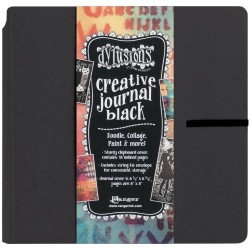 "Creative Journal Black 8""x8"" Dylusions by Dyan Reaveley"