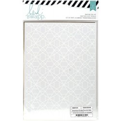 "Dots Silver Wanderlust Rub-On Foil Kit 5,5""x7,5"" Heidi Swapp"