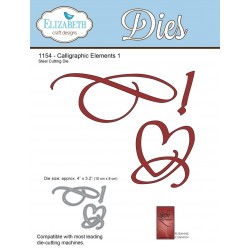 Calligraphic Elements 1 A Way With Words Dies Elizabeth Craft Designs