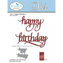 Happy Birthday 2 A Way With Words Dies Elizabeth Craft Designs