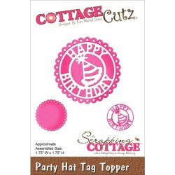 Fustella Party Hat Topper Die CottageCutz