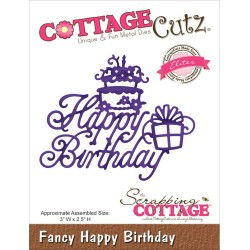 Fustella Fancy Happy Birthday Die CottageCutz