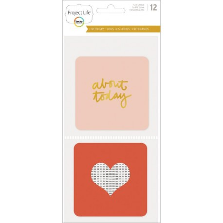 "Everyday Edition With Gold Project Life Themed Cards 4""x4"" 35 Pkg"