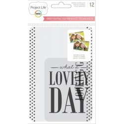 Sweet Edition Transparent Photo Overlays 12 Pkg Project Life