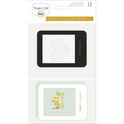 """Everyday Edition With Gold Project Life Themed Cards 4""""x4"""" 35 Pkg"""