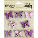 Fiori Petaloo Teastained Purple Mini Butterflies Premier Darjeeling Collection 8 Pkg