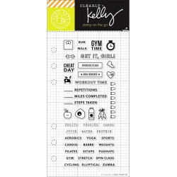 "Fitness Planner Clear Stamps 2,5""x6"" Kelly Purkey Hero Arts"