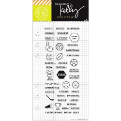 "Sports Planner Clear Stamps 2,5""x6"" Kelly Purkey Hero Arts"