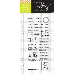 "Timbro Adventure Planner Clear Stamps 2,5""x6"" Kelly Purkey Hero Arts"