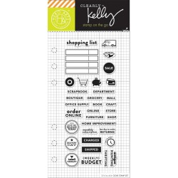 "Timbro Shopping Planner Clear Stamps 2,5""x6"" Kelly Purkey Hero Arts"