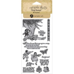 Children's Hour 2 Cling Stamps by Graphic45 Hampton Art