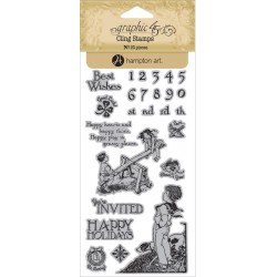 Children's Hour 3 Cling Stamps by Graphic45 Hampton Art