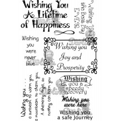 Wishing You Sentiments Rubber Stamps Little Darlings