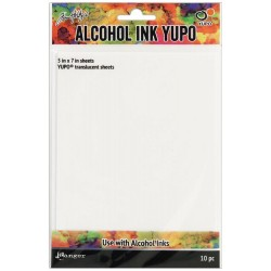 Tim Holtz Alcohol Ink Transulcent Yupo Paper 10 Sheets Tim Holtz
