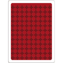Plus Sign Textured Impressions A2 Embossing Folder Sizzix by Tim Holz