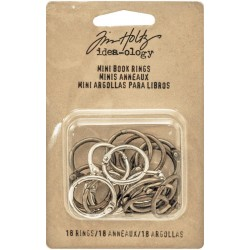 Mini Book Rings 18 Pkg Idea-Ology by Tim Holtz