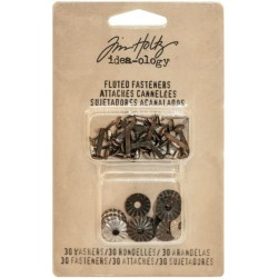 Fluted Fasteners With Washers 30 Pkg Idea-Ology by Tim Holtz