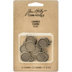 "Charmed Round Charms 0,5"" 12 Pkg Idea-Ology by Tim Holtz"