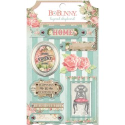 Soirée Self-Adhesive Layered Chipboard 7 Pkg Bo Bunny