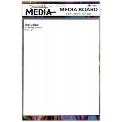 "Media Board 9""x12"" 3 Pkg Dina Wakley"