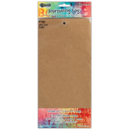 Kraft size 12 Journaling Tags10 Pkg Dyan Reaveley's Dylusions