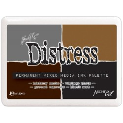 Permanent Mixed Media Ink Palette Distress by Tim Holtz