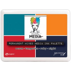 Permanent Mixed Media Ink Palette Media by Dina Wakley
