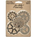 "Metal Gadget Gears 1,5"" To 2"" 5 Pkg Idea-Ology by Tim Holtz"