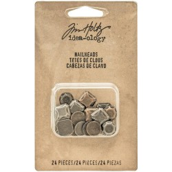 Glue-On Nailheads 24 Pkg Idea-Ology by Tim Holtz