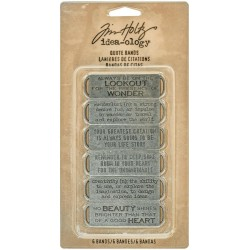 Metal Quote Bands 6 Pkg Idea-Ology by Tim Holtz