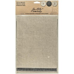 "Adhesive Backed Textile Surfaces 5,5""x7"" 6 Pkg Idea-Ology by Tim Holtz"