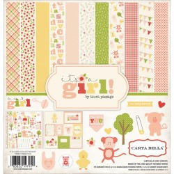 "It's A Girl 12""x12"" Collection Kit Carta Bella"