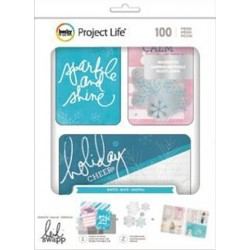 Oh What Fun Winter Cards & Die-Cuts Embellishments Project Life Value Kit 100 Pkg American Crafts