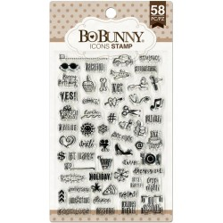 "Icons Clear Stamps 4""x6"" Bo Bunny"