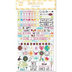 Believe Essential Clear Stickers Bo Bunny