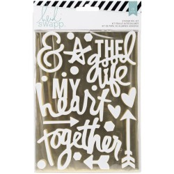Gold Together Wanderlust Stickers Foil Kit 100 Pkg Heidi Swapp