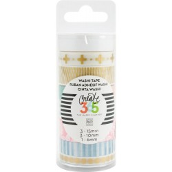 Hello Life Washi Tape Create 365 The Happy Planner 7 Pkg Me & My Big Ideas