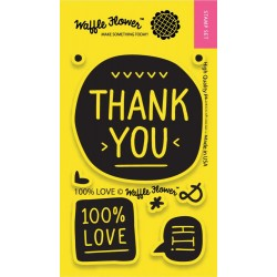 "100% Love Clear Stamps 2""x3"" Waffle Flower Crafts"