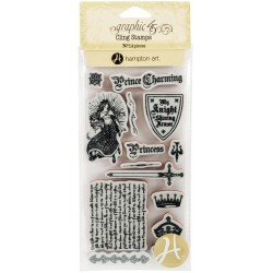Timbri Enchanted Forest 2 Cling Stamps by Graphic45 Hampton Art