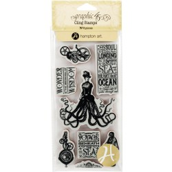 Voyage Beneath The Sea 3 Cling Stamps by Graphic45 Hampton Art