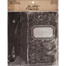 """Composition Worn Cover 5,25""""x7"""" Idea-Ology by Tim Holtz"""