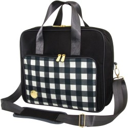 Black Plaid Crafter's Shoulder Bag We R Memory Keepers