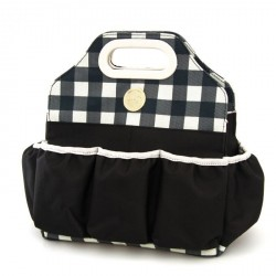Black Plaid Crafter's Tote Bag We R Memory Keepers