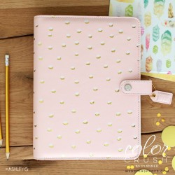 A5 Blush & Gold Foil Dot Color Crush Planner Kit Webster's Pages