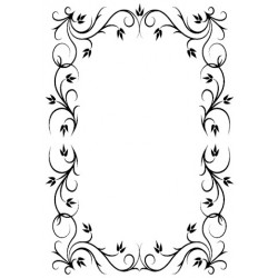 Rectangle Frame 4 Embossing Folder Hobby Solution