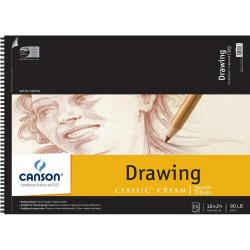 "Canson Classic Cream Spiral Drawing Book 18""X24"""